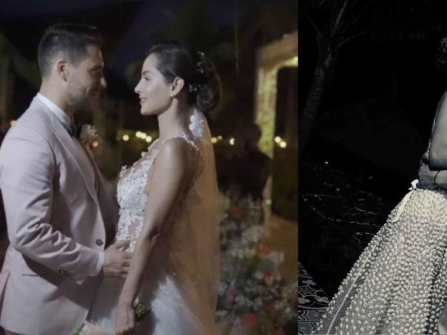 Sebastián Caicedo y Carmen Villalobos en su boda