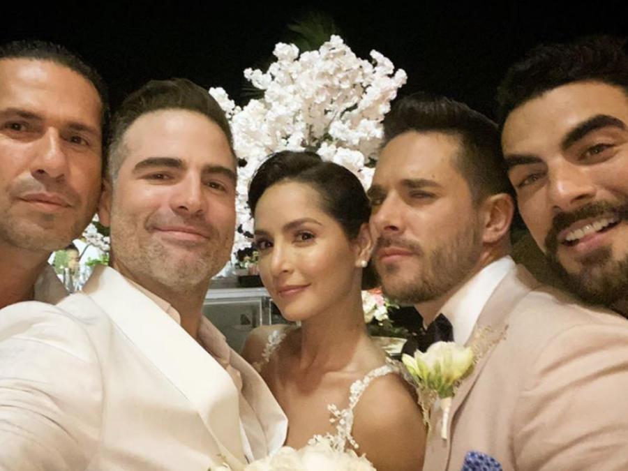 Carmen Villalobos y sus invitados.