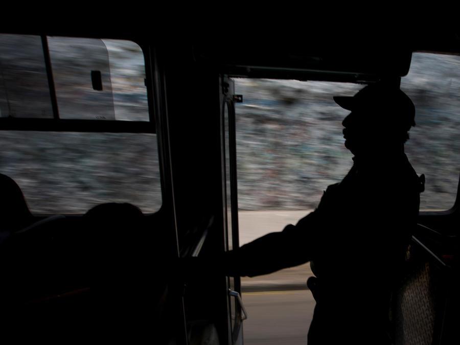 Campaña para el cese del robo en autobuses en México en una imagen de archivo