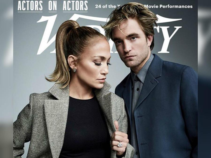 Jennifer Lopez con Robert Pattinson en portada de Variety