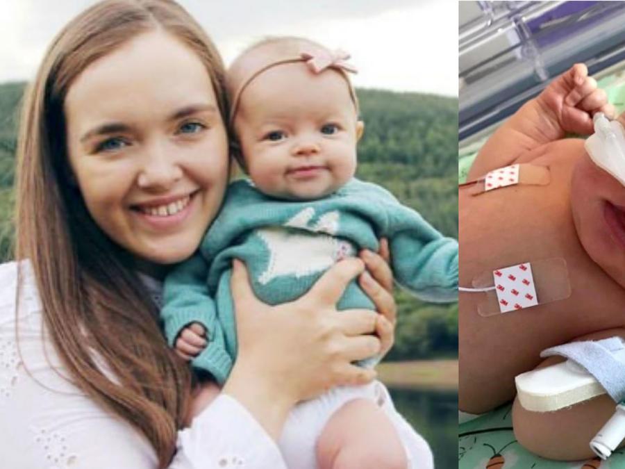 Bethany Davies y su bebé, Elsie