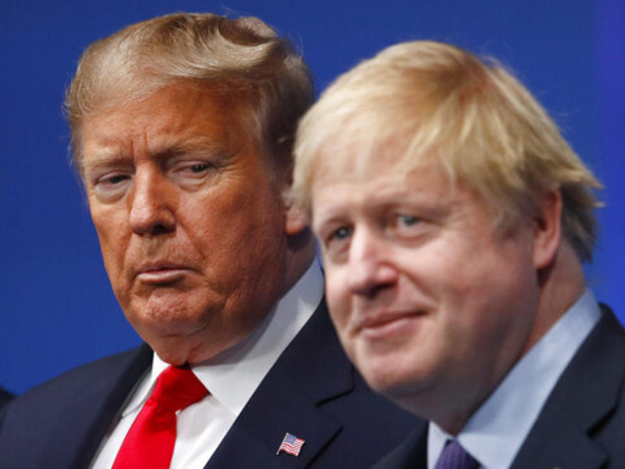 Donald Trump y Boris Johnson, en una imagen de principios de diciembre.