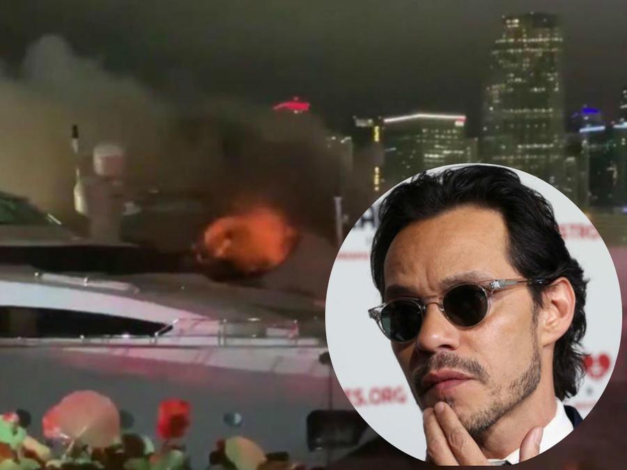 El yate de Marc Anthony se perdió en un poderoso incendio
