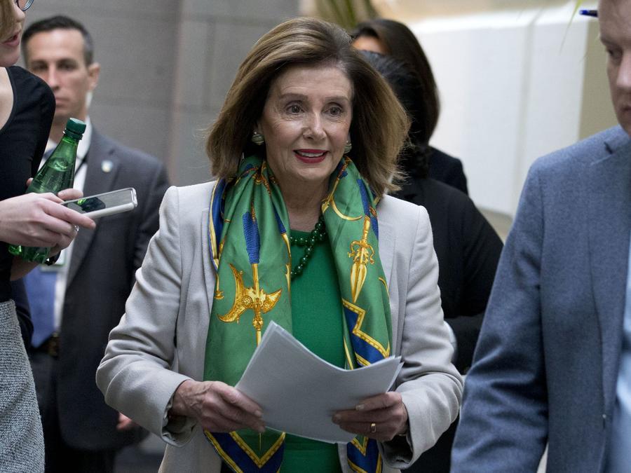 Nancy Pelosi La presidenta de la Cámara de Representantes, Nancy Pelosi