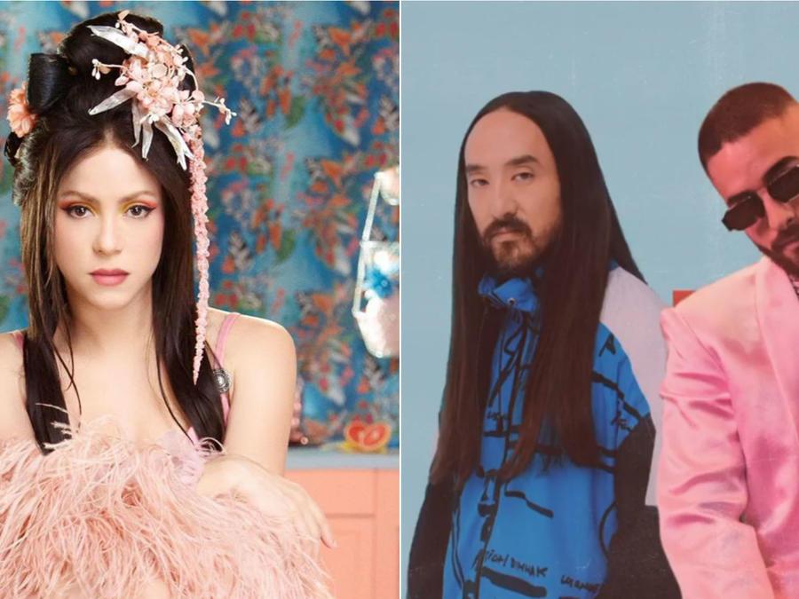 Shakira; Steve Aoki y Maluma