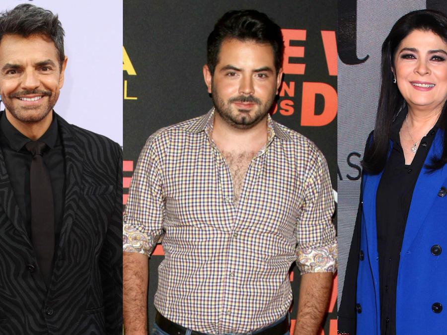 José Eduardo Derbez, Eugenio Derbez y Victoria Ruffo