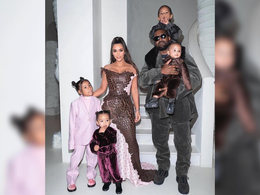 Kim Kardashian, Kanye West y su familia