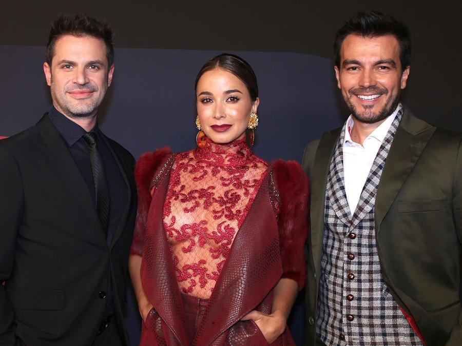 Majida Issa, Mark Tacher y Luciano D' Alessandro en Natpe 2020