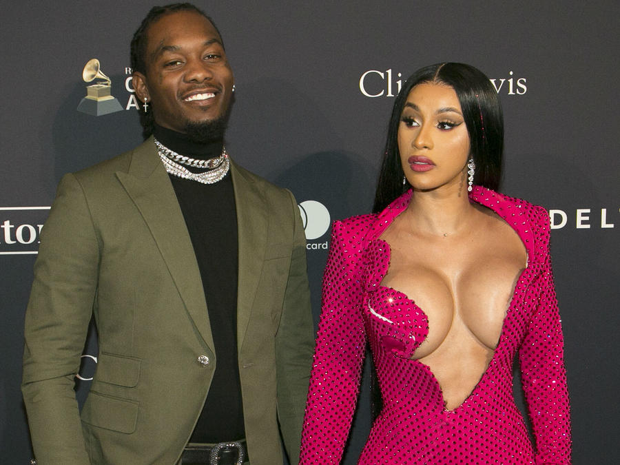 Cardi B y Offset en Grammys 2020