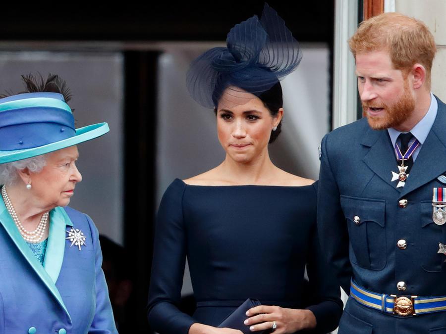 Este es el primer castigo de la reina Isabel para Harry y Meghan Markle