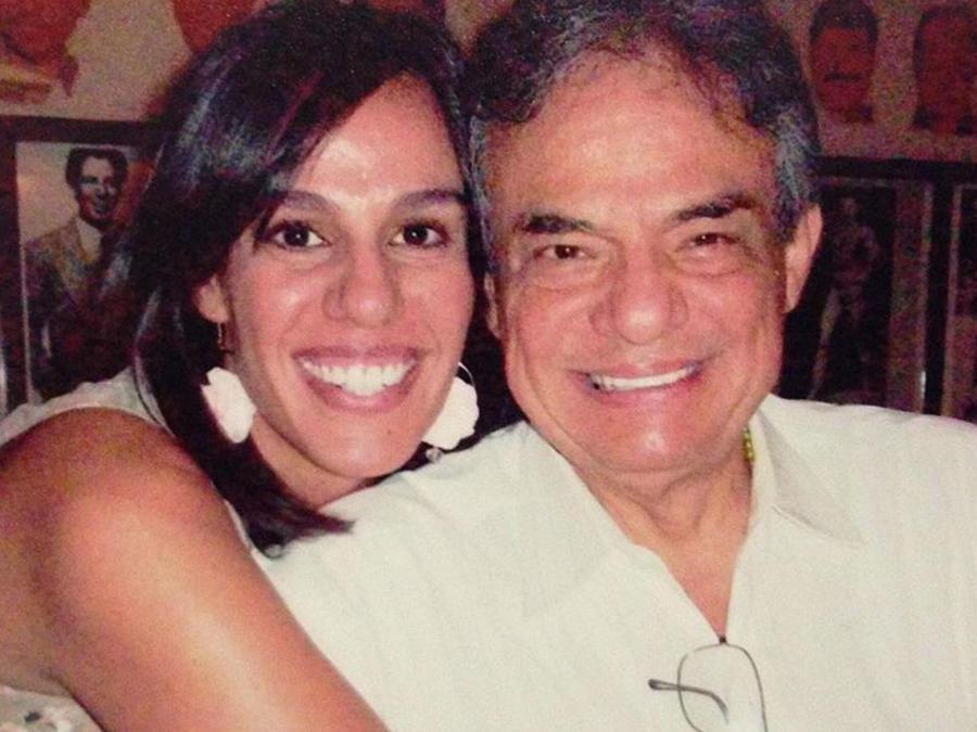 Marysol Sosa con su papá, José José