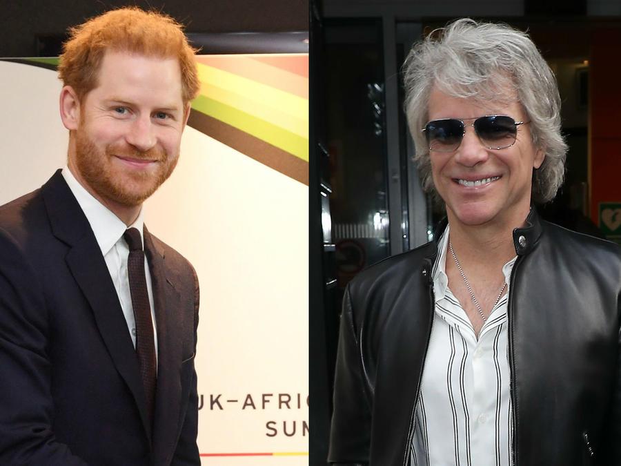 Jon Bon Jovi y príncipe Harry