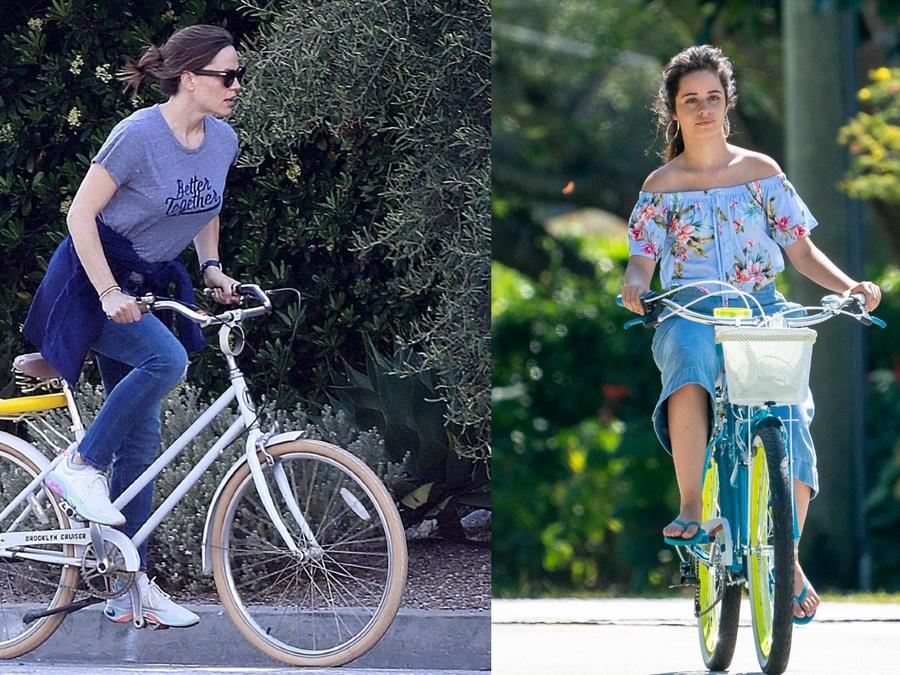Jennifer Garner, Camila Cabello en bicicleta
