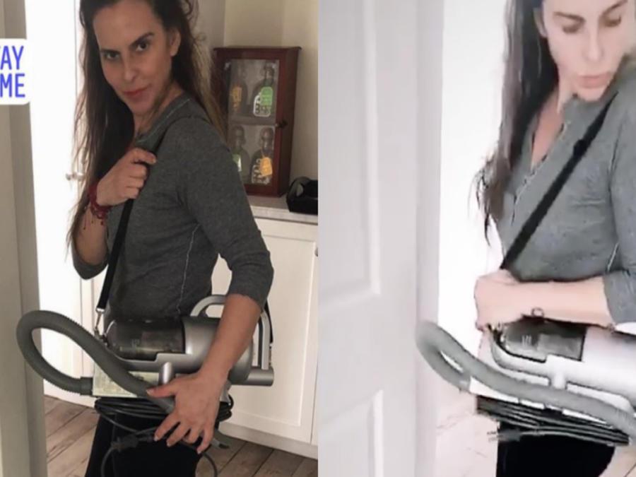 """Kate del Castillo presume su nueva bolsa limpiadora """"Shark Vuitton"""""""
