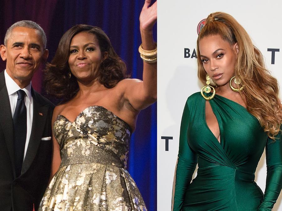 Michelle Obama, Barack Obama, Beyoncé