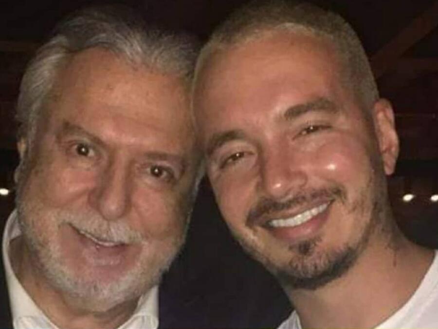 J Balvin y su papá