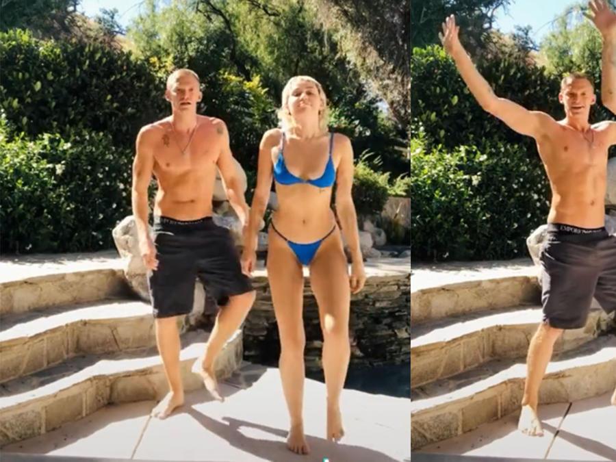 Miley Cyrus y Cody Simpson coroeografía TikTok