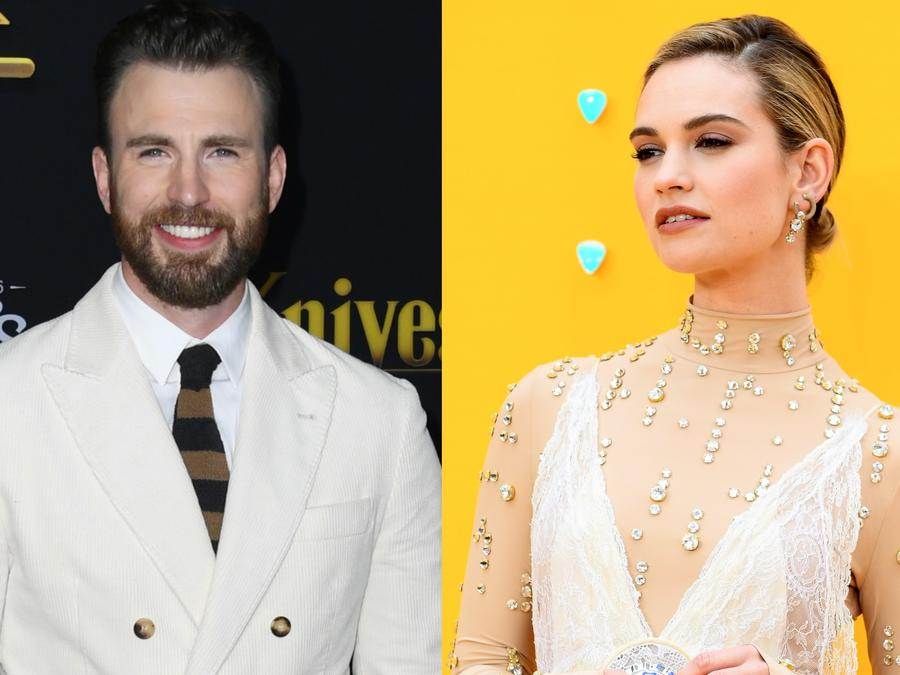Chris Evans y Lily James