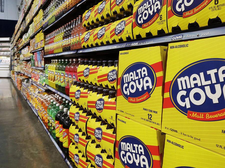Los productos Goya exhibidos en la sede de la compañía en Jersey City, Nueva Jersey.