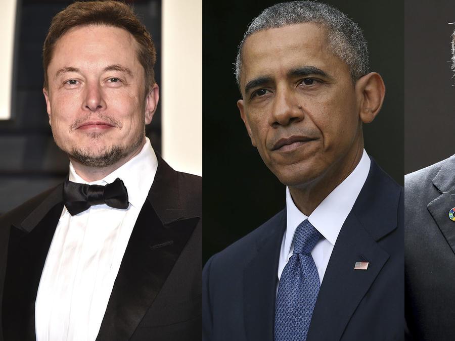 Elon Musk, barak Obama y Bill Gates
