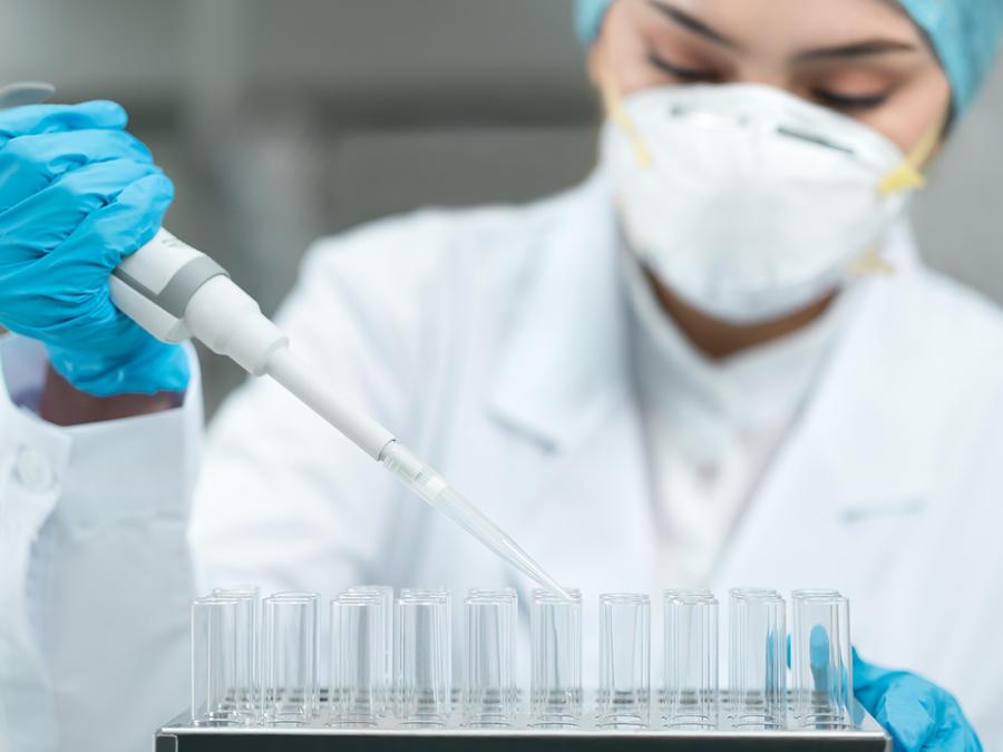 Pruebas de laboratorio del coronavirus.