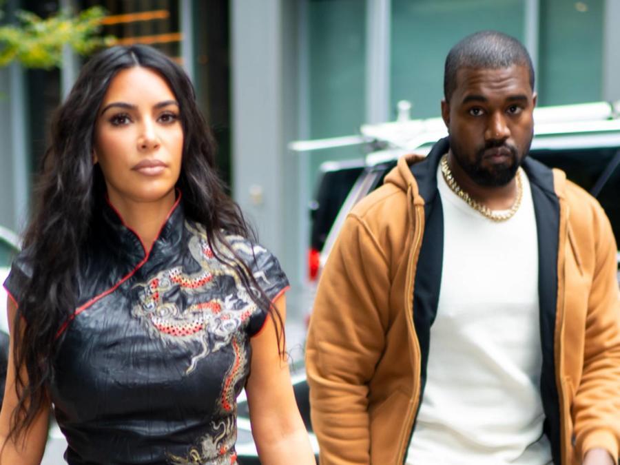 Kim Kardashian con Kanye West en New York, octubre 2019