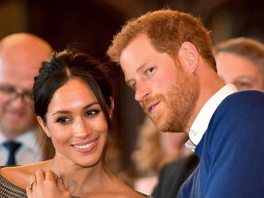 Prince Harry y Meghan Markle en Cardiff Castle 2018