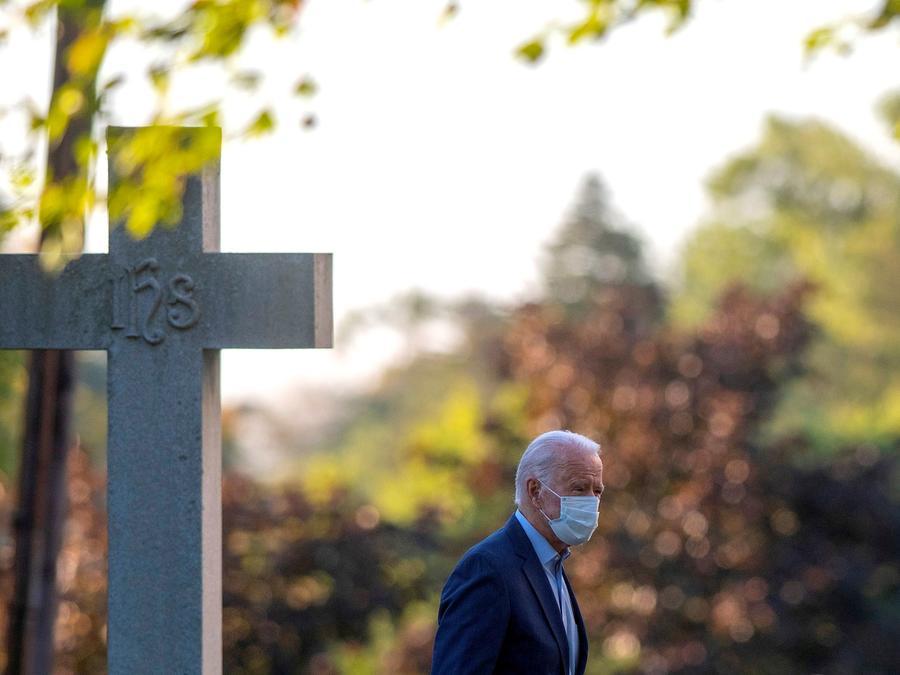 El 20 de septiembre, Biden asistió a un servicio en la iglesia de Saint Joseph's on the Brandywine, el templo católico que visita con frecuencia en Greenville, Delaware.