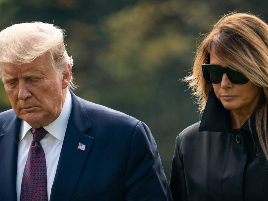 El presidente Donald Trump y su esposa Melania