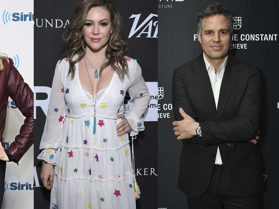 Alyssa Milano, Kirstie Alley, Mark Ruffalo