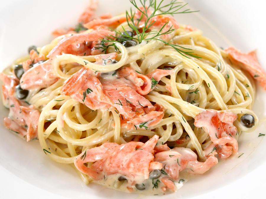 Receta pasta salmón