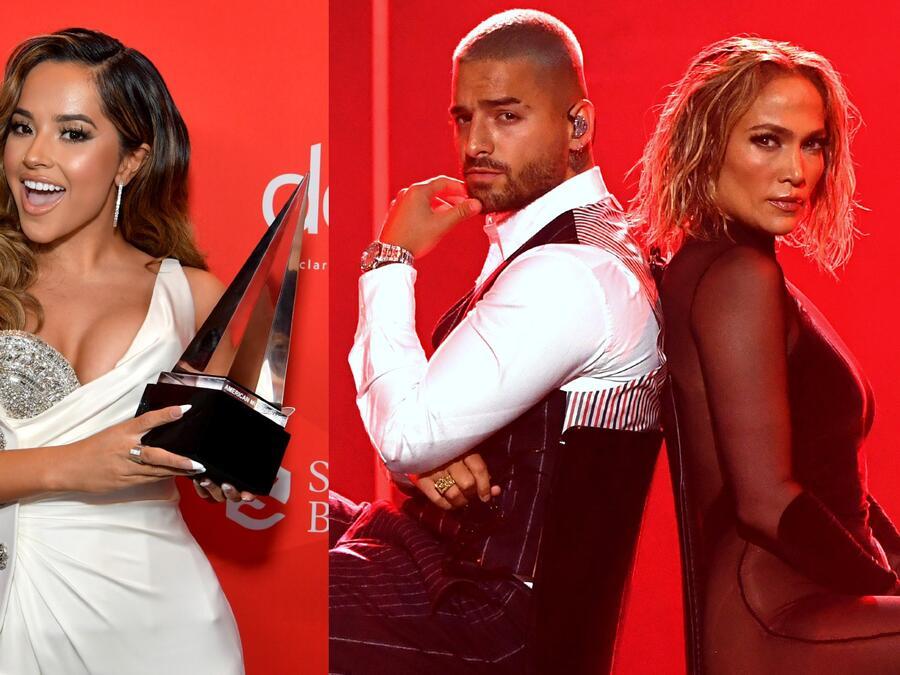 Becky G. Maluma y Jennifer Lopez, American Music Awards 2020