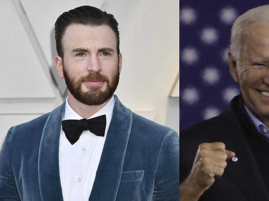 Chris Evans y Joe Biden