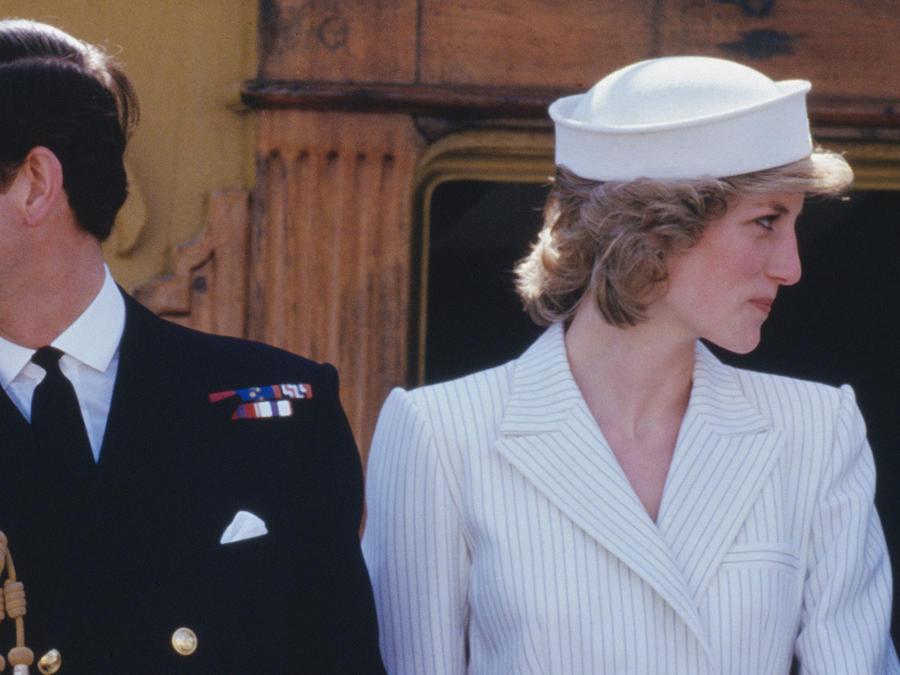 Príncipe Charles y Diana 1985 italia