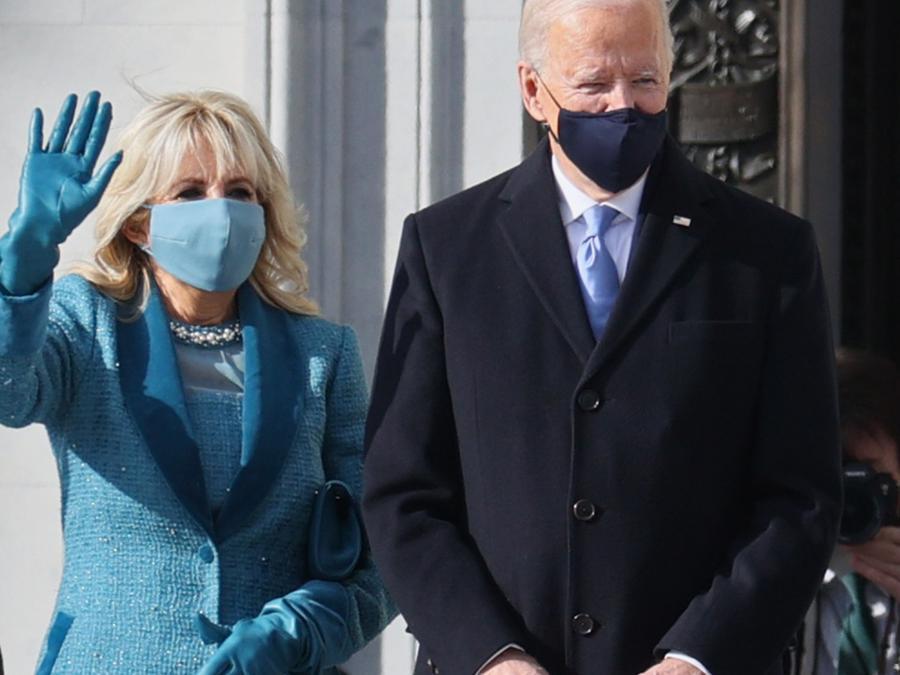 Jill y Joe Biden en el Capitolio