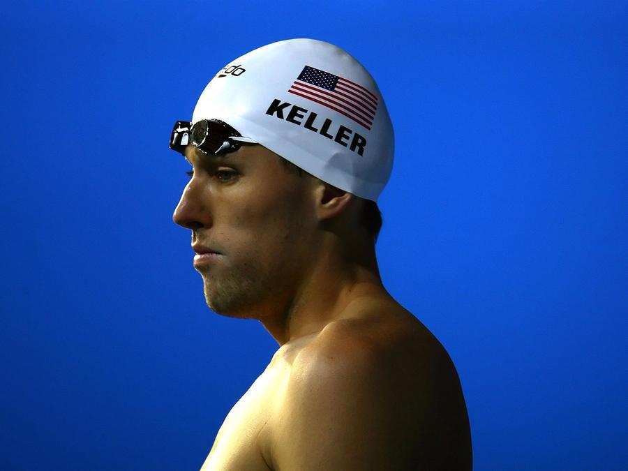 Klete Keller ganó cinco medallas, en tres olimpiadas, representando a Estados Unidos en natación.