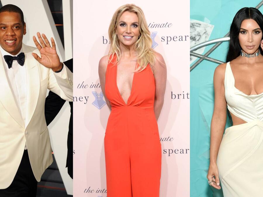 Britney Spears, Jay-Z, Kim Kardashian