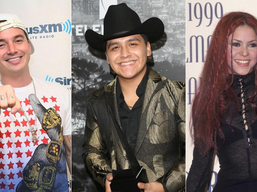 J Balvin, Christian Nodal, Shakira