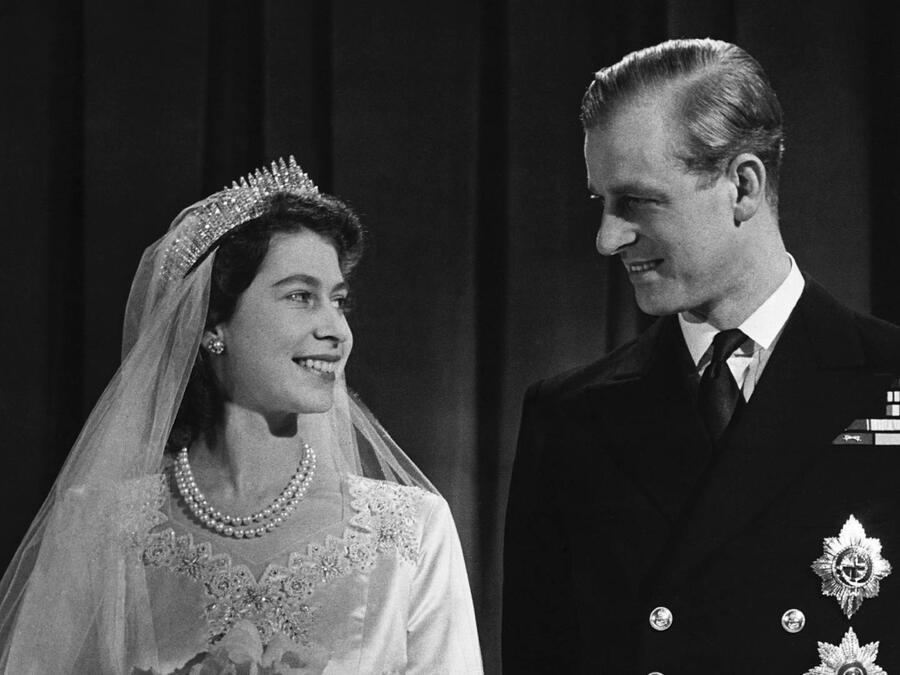 La reina Elizabeth II y el príncipe Philip boda