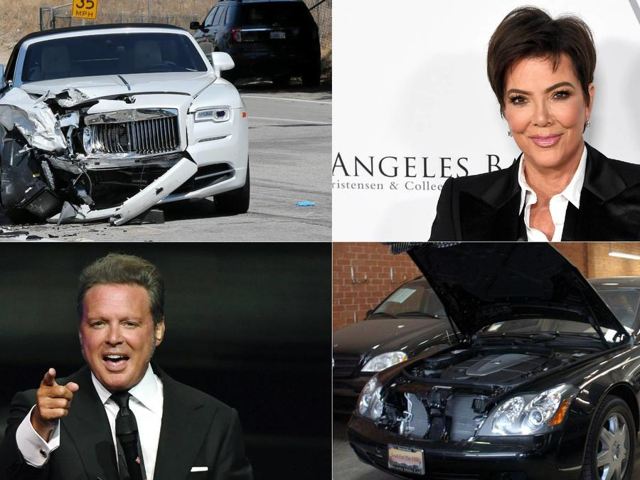 Luis Miguel y Kris Jenner, choques autos