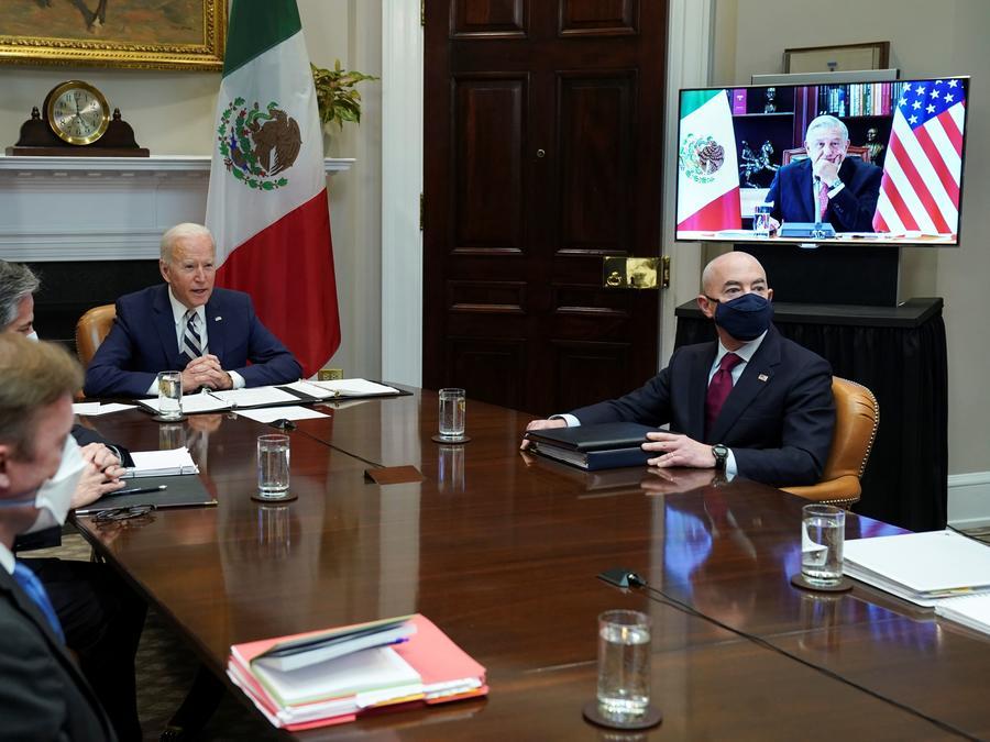 El presidente de Estados Unidos, Joe Biden, y su homólogo mexicano, Andrés Manuel López Obrador
