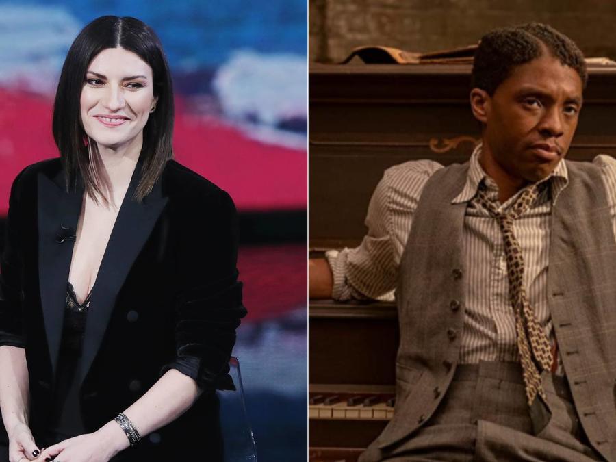 Laura Pausini; Chadwick Boseman en 'Ma Rainey's Black Bottom'