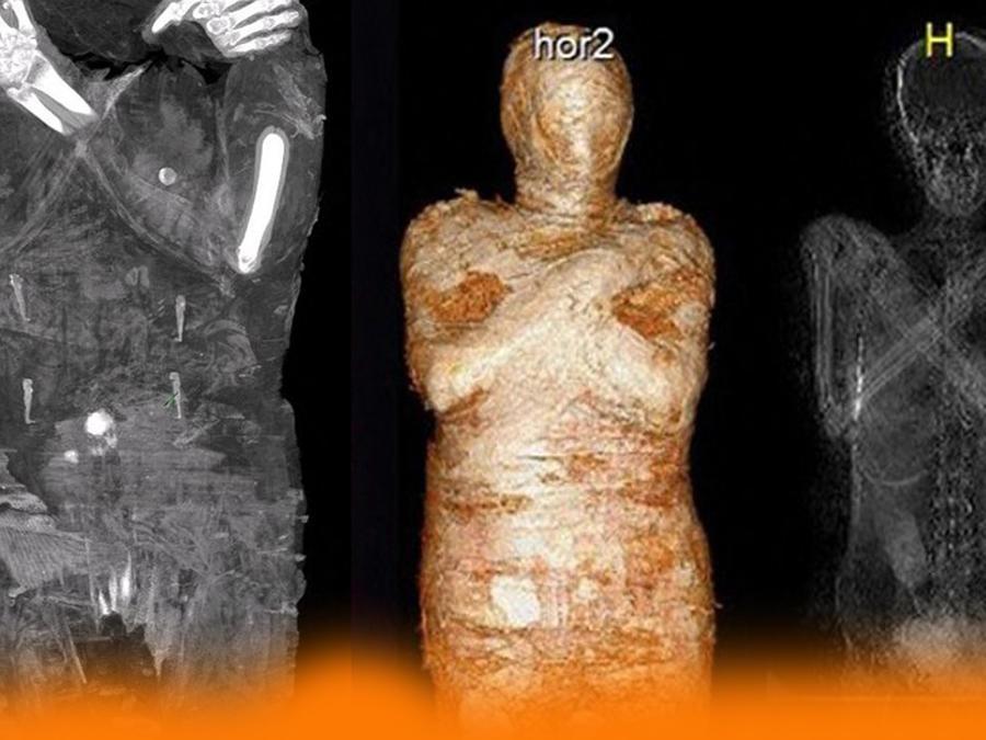 Momia egipcia embarazada