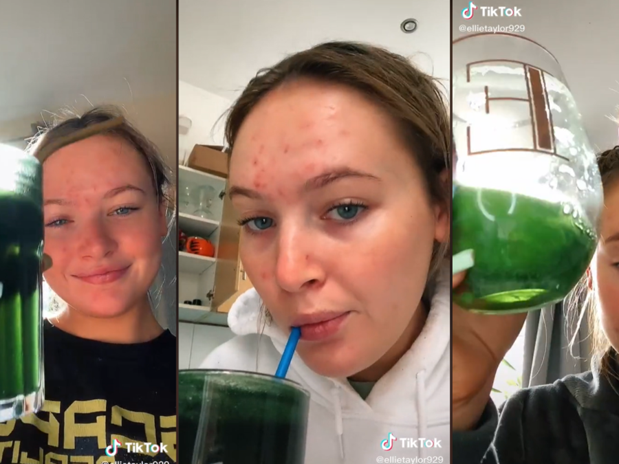 La usuaria de TikTok @ellietaylor929 mostró en un video los efectos en su piel de tomar clorofila durante una semana. La publicación ha sido vista más de 12 millones de veces.