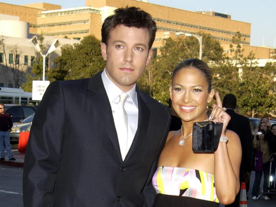 """Ben Affleck y Jennifer Lopez, premier """"Daredevil"""", 2003"""