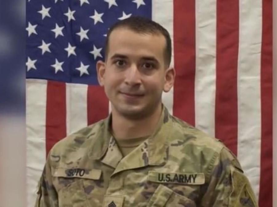 El sargento Daniel A. Soto de Jesús en su uniforme militar