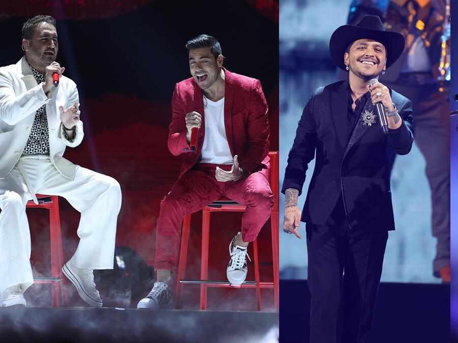 Reik, Carlos Rivera, Christian Nodal y Karol G en sus presentaciones de los Premios Billboard 2021