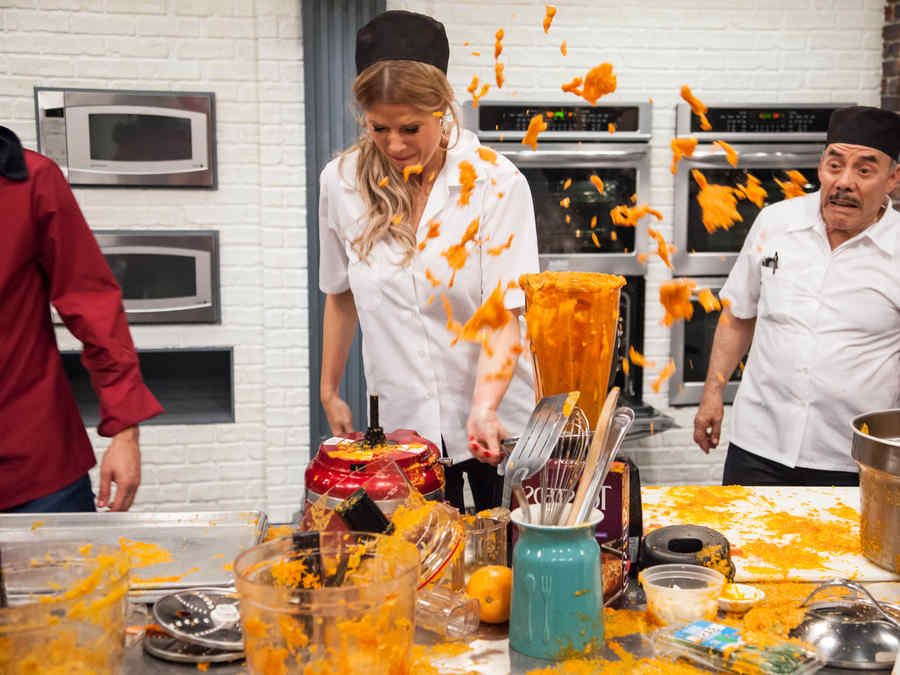 Sissi Fleitas y Don Pedro Rivera en Top Chef Estrellas