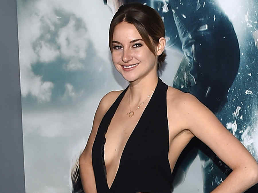 """Shailene Woodley en la premiere de la película """"Insurgent""""."""