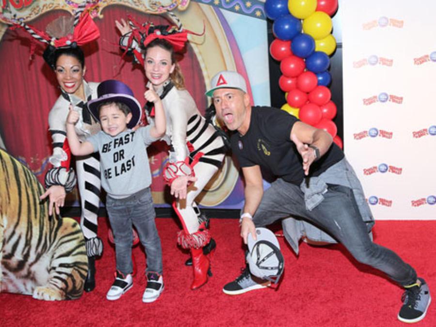 Jorge Bernal de La Voz Kids y su hijo en El Circo de Los Hermanos Ringling